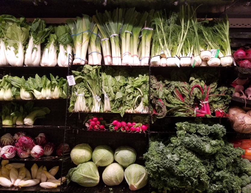cabbage kale, chard bok choy greens groceries