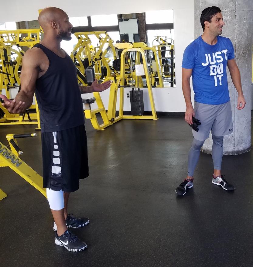 jamel gym sweat workout partner friends